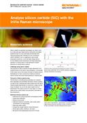 Application note:  Analyse silicon carbide (SiC) with the inVia Raman microscope